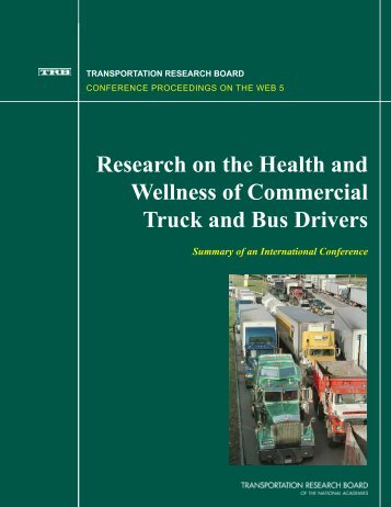 Research on the Health and Wellness of Commercial Truck and Bus ...
