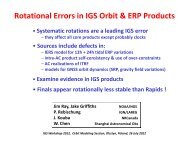 Rotational Errors in IGS Orbit & ERP Products - IGS Analysis Center ...
