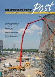 77 Customer magazine by Putzmeister Concrete Pumps GmbH ...