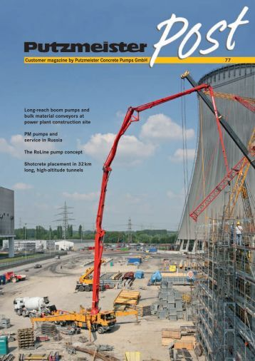 booster 15 concrete and shotcrete pump imer usa 77 customer magazine by putzmeister concrete pumps gmbh