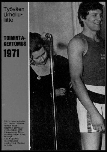 TOIMINTA- KERTOMUS - Urheilumuseo