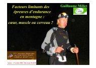 facteurs limitant des épreuves d'endurance en montagne - Club des ...