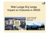 Wet Lungs Dry lungs - PULSION Medical Systems SE
