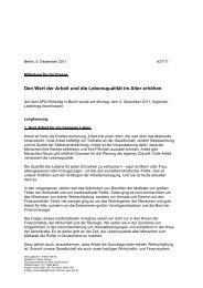 Parteitag 2011 Beschluss Arbeit / Alterssicherung ... - SPD