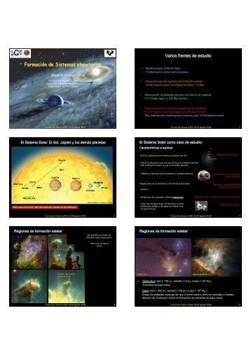 Formación de Sistemas planetarios - Laeff.cab.inta-csic.es