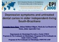 Depressive symptoms and untreated dental caries in ... - Epi2008