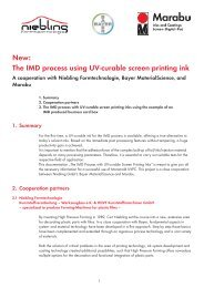New: The IMD process using UV-curable screen printing ink