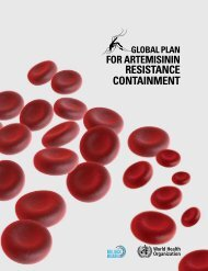 Global plan for artemisinin resistance containment - WHO Western ...