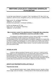 mentions legales et conditions generales d'utilisation - RTL