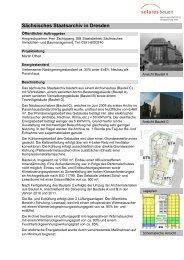 Sächsisches Staatsarchiv in Dresden - solares bauen