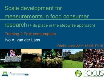 Scale development for measurements in food ... - Focus-Balkans