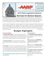 AARP Summarizes 2010 State Legislative Session and Impact on ...
