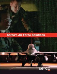 Serco's Air Force Solutions