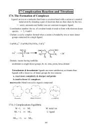 17 Complexation Reaction and Titrations