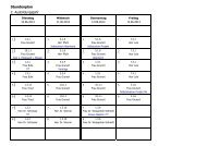 2. Ausbildungsjahr Stundenplan Weimar