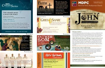 Notes - Memorial Drive Presbyterian Church