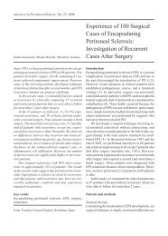Experience of 100 Surgical Cases of Encapsulating Peritoneal ...