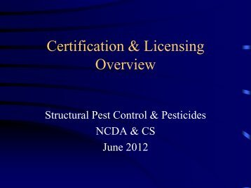 Amadou Jallow, Pesticide Recertification and Licensing