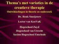 Ontwikkelingen in de creatieve therapie - KenVaK - Zuyd