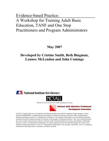 Evidence-based Practice: A Workshop for Training Adult Basic ...