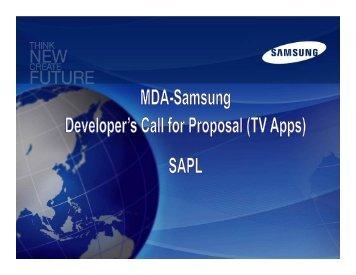 Samsung TV Apps Developer Event (MDA)-26 Sep