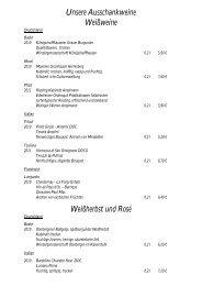 Weinkarte - Riepe Privat Hotels