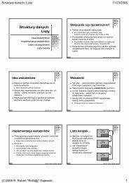 Struktury danych: Listy