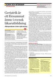 Läs Johan Axelssons artikel om geriatrik i svensk grundutbildning