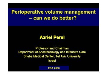 Perioperative volume management – can we do better?