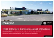 Three brand new architect designed showrooms FOr leaSe