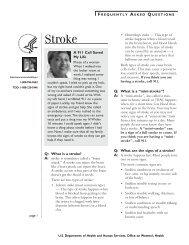 Stroke fact sheet - WomensHealth.gov