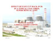 effect of fast cut back (fcb) in a typical coal fired, supercritical ... - NPTI