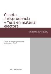 Año 2, Núm. 3, 2008 - Tribunal Electoral del Poder Judicial de la ...