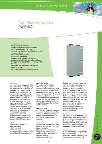 Warmteterugwinapparaat WHR 920 - J.E. StorkAir