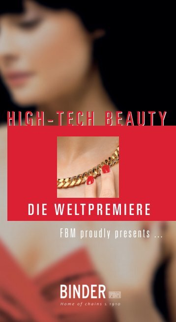 HIGH-TECH BEAUTY - Binder FBM