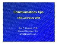 Download Dr. Bisconti's Presentation