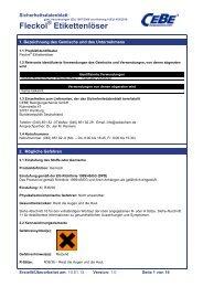 Fleckol Etikettenlöser - CEBE Reinigungschemie GmbH
