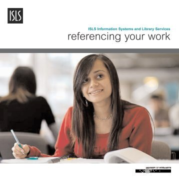 referencing your work - University of Westminster
