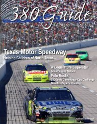 Texas Motor Speedway - 380Guide Magazine