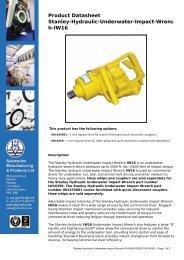 Product Datasheet: Stanley-Hydraulic-Underwater-Impact-Wrench ...
