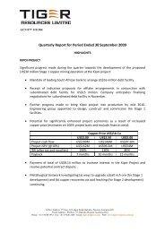 Quarterly Report for Period Ended 30 September ... - GOLDINVEST.de