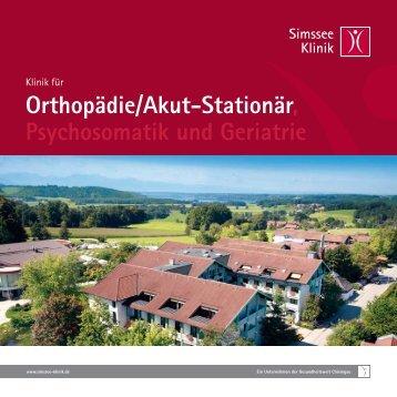 Orthopädie - Simssee Klinik Bad Endorf