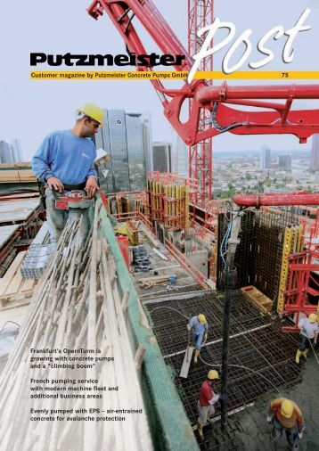 booster 15 concrete and shotcrete pump imer usa customer magazine by putzmeister concrete pumps gmbh 75