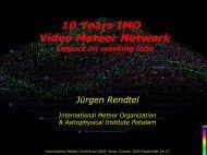 Jürgen Rendtel - IMO Video Meteor Network Homepage