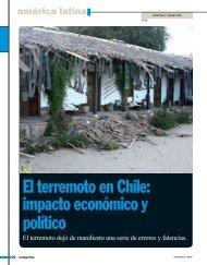 El terremoto en Chile: impacto económico y político - Revista ...