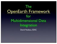 The OpenEarth Framework for multidimensional data ... - Geon