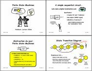 Finite State Machines A simple sequential circuit ... - 6.004