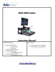 RKM-2000 Holder Instruction Manual - Datavideo
