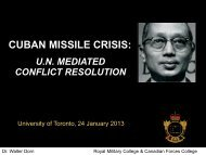 U Thant: UN Mediator of the Cuban Missile Crisis - Dr. Walter Dorn