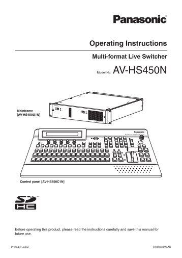 Operating Instructions - Panasonic FTP